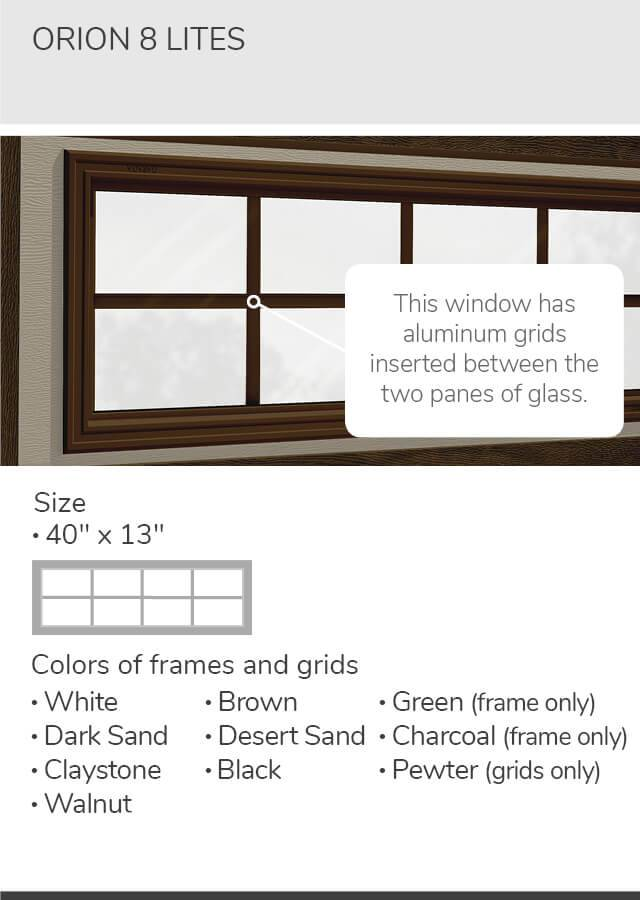Classic CC, 9' x 7', Ice White, Orion 4 lite windows